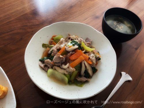 中華丼とスープ