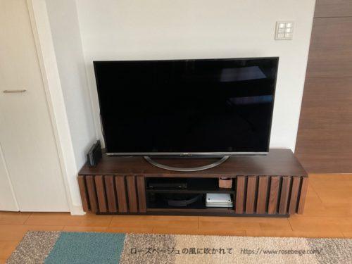 大川家具のテレビボード