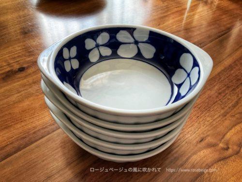 波佐見焼きのグラタン皿、スタッキングOK