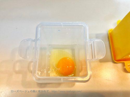 レンジでだし巻き卵を作る①